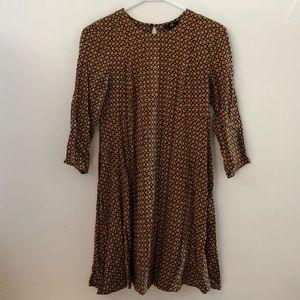 Long-Sleeve Print Dress